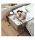 تخت کنار مادر رنگ سرمه ای طرح جین برند Chicco