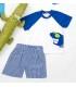 ست 2 تکه تی شرت و شلوارک پسرانه برند Wonder Kids
