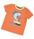 تی شرت نارنجی طرح کوسه برند Wonder Kids