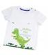 تی شرت سفید طرح دایناسور برند Wonder Kids