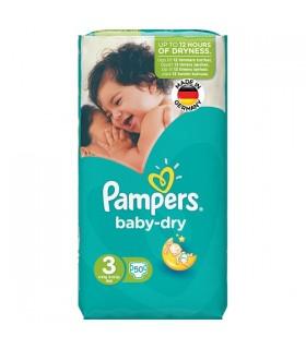 پوشک کامل بچه Pampers حاوی لوسیون، سایز 3 (50 عددی)