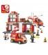 اسباب بازی ساختنی مدل ایستگاه آتش نشانی برند Sluban