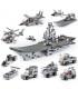 اسباب بازی ساختنی نیروی زمینی/ هوایی و دریایی شامل 9 جعبه مختلف برند Sluban