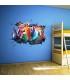 استیکر دیواری با طرح کارتون توربو Zhivar