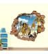استیکر دیواری با طرح ماداگاسکار Zhivar