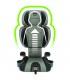 صندلی ماشین کیدفیت زیپ طوسی چیکو Chicco Kidfit Zip Car Seat