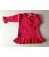 پیراهن بافتنی دخترانه قرمز GreenApple