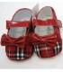 کفش دخترانه چهارخانه قرمز Burberry