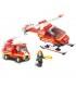 اسباب بازی ساختنی مدل آتش نشان هوایی برند Sluban