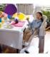 صندلی غذای کودک پگ پرگو مدل تاتامیا Peg Perego Tatamia Stripes Grey