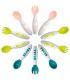 ست قاشق و چنگال (10 عددی) ب آ با Beaba 10-piece ergonomic 2nd age cutlery set