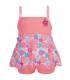 لباس شنا دخترانه محافظ دار گلدار(3 تا 6 ماه) Archimede Tropical Swimdress Double Protection