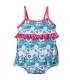 لباس شنا دخترانه محافظ دار طرح قلب(3 تا 6 ماه) Archimede Neon Maillot Double protection
