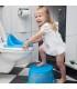 رابط توالت سفید طرح دار Rotho StyLe Toilet Seat Vintage White