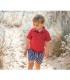 مایو شورتی پسرانه طرح ملوانی (4 سال) Archimede Marin Boy Boxers Stripe