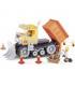 اسباب بازی ساختنی مدل زندگی شهری- بلدوزر کاترپیلار Cobi Action Town Caterpillar Bulldozer