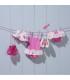 لباس شنا دخترانه محافظ دار خالدار (3 تا 6 ماه) Archimede Pastel Swimddress Double protection