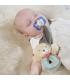 آویز پستانک جغجغه ای بیبی فن طرح خرس BabyFehn Soft Ring Rattle Bear