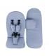 ست کالسکه میما مدل زاری رنگ نقره ای با پوشش زمستانه Mima Xari Stroller